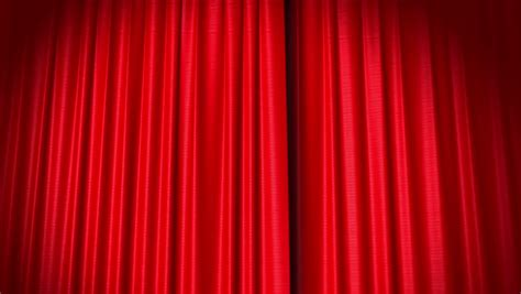 stock video  opening  closing red curtain