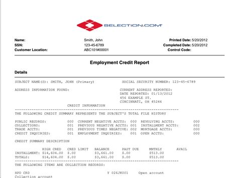 pre employment background checks pre employment credit report selection