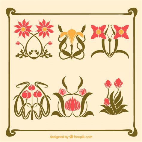 variet 224 di fiori artistici in stile liberty scaricare