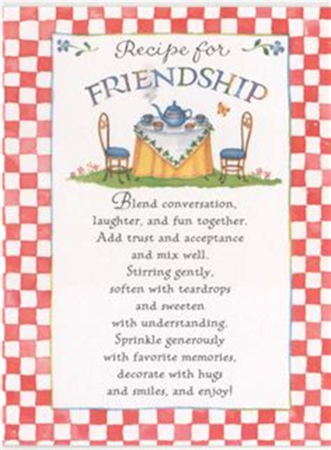 recipe for friendship template 1000 images about s ministry on s