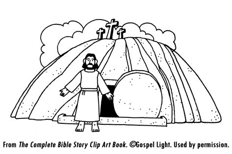Trendy Free Easter Coloring Pages Burial And Of Jesus Gospel Light Coloring Pages