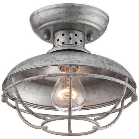 design house kimball lighting franklin park 8 1 2 quot wide galvanized outdoor ceiling light