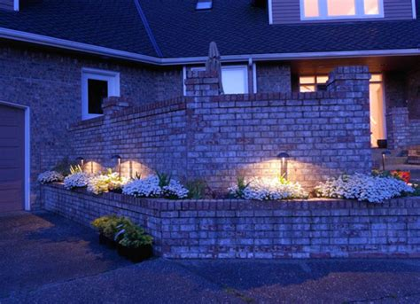 flower bed lights puddle lights to showcase beautiful flower beds