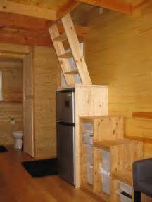 the stairs going loft above frig worked out well best tiny house build bathroom bathrooms small