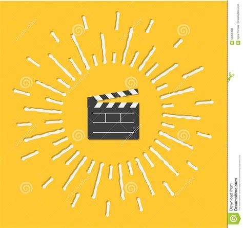 flat design effect open movie clapper board template icon flat design style