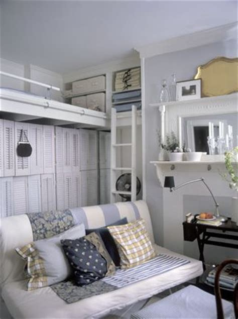 small room with high celings space from high ceilings in small room use for storage