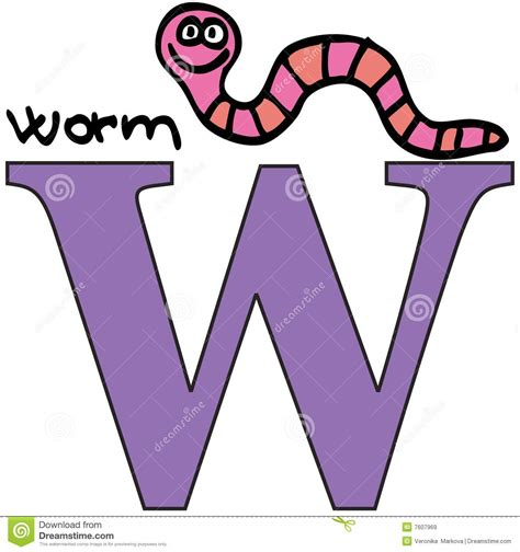 Free Illustration H Letter Alphabet Alphabetically animal alphabet w worm stock vector illustration of 7607969
