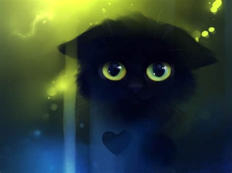 sad kitty fantasy painting wallpaper preview wallpapercom