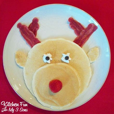rudolph pancakes for a christmas breakfast kitchen fun