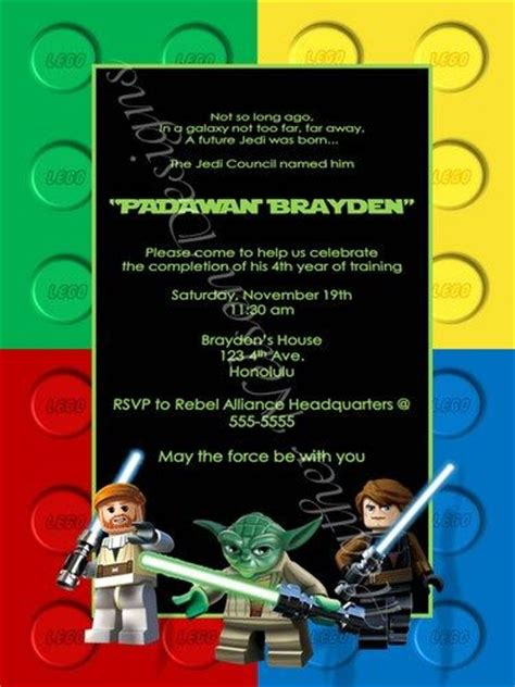printable lego star wars invitations pin by jennifer jones glor on birthday pinterest