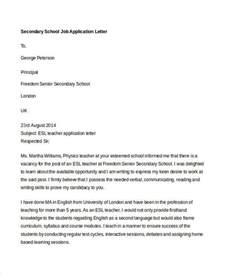 Application Letter Format School 40 Application Letters Format Free Premium Templates