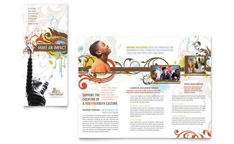 church youth group brochure template word publisher