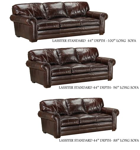 lassiter sofa and std depth by american
