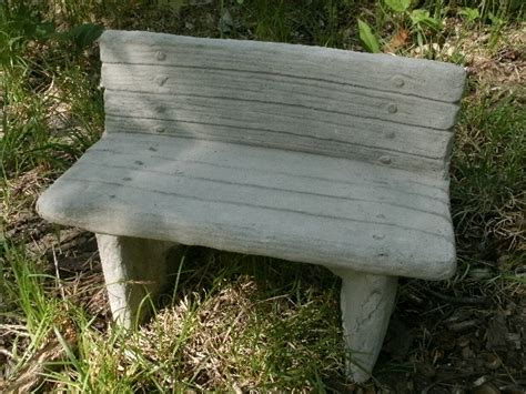small concrete garden benches small cement 12 034 long bench garden art concrete statue many uses ebay