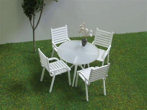dollhouse patio furniture 4 seater patio set 1 12 scale dollhouse modern style garden furniture