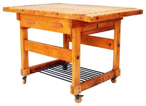 work bench nyc vintage industrial solid maple workbench kitchen island