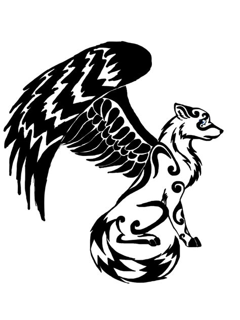 pattern drawing wolf winged wolf design by dragondescendant on deviantart