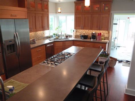 Kitchen Countertops Seattle Concrete Countertops Contemporary Kitchen Countertops Seattle By Vc Studio Inc
