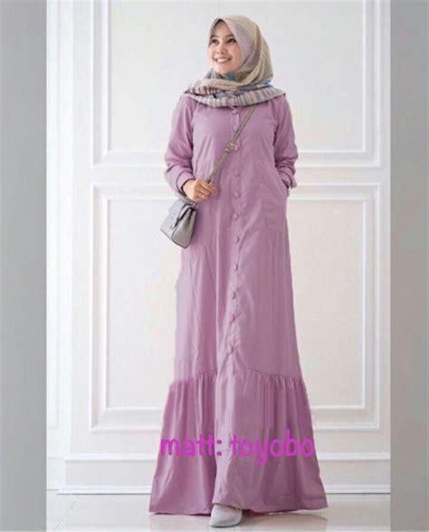 Baju Terusan Wanita Muslim Longdress Seruti Gamis busana muslim katun toyobo rayna maxi gamis modern terbaru