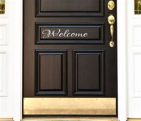 decorative window decals for home front door welcome vinyl decal sticker 9 quot home decor