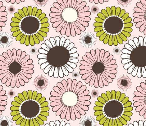 Segiempat Floral Sp 01 pink and gold floral fabric jenniferjacksonlee spoonflower