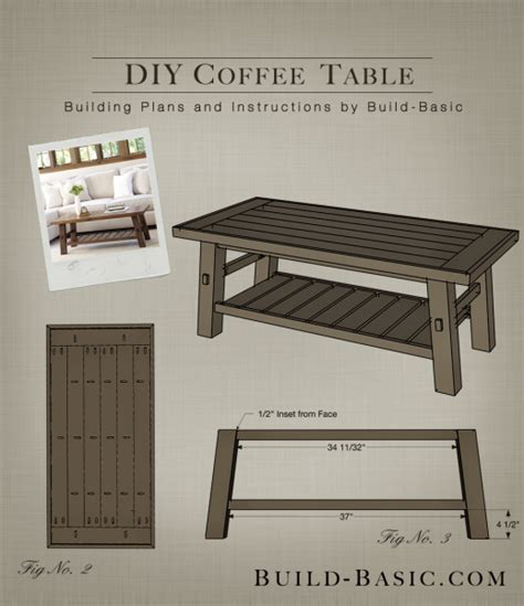how to build a coffee table build a diy coffee table build basic