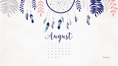Calendar For Desktop August 2016 Free Calendar Desktop Wallpaper