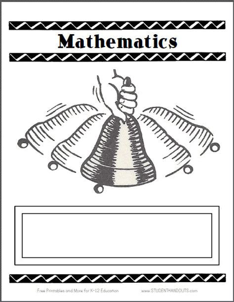 maths cover coloring pages