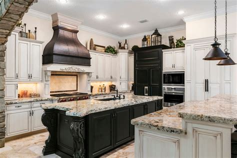 Mixed Wood Kitchen Cabinets Mixed Cabinets Kitchen Contemporary With Black Countertop Brass Deadbolt Locks