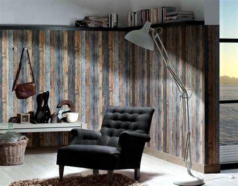 Wood look wallpaper brings up pleasure in the bedroom ... Wood Wallpaper Bedroom