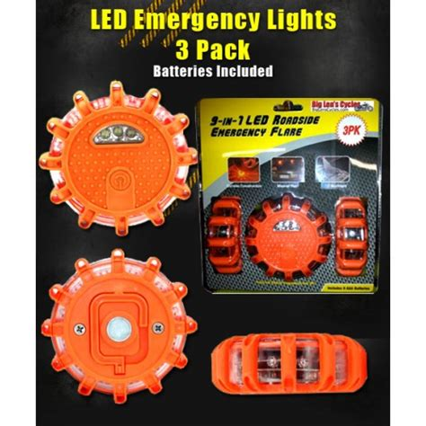 led safety flare light l e d emergency light road flares 3 pack special low price