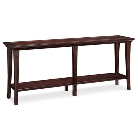 sofa table long metropolitan long console table pottery barn