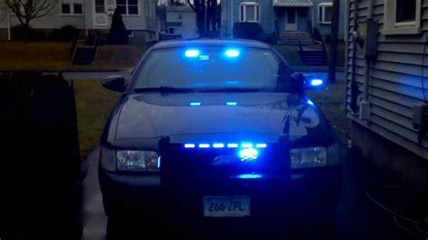 volunteer firefighter blue light crown vic front lights