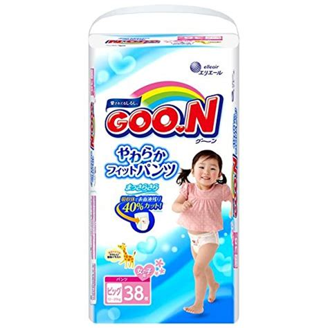 Goo N S 44 goon soft fit diapers for l size
