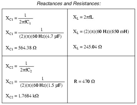 resistance of a inductor formula series parallel r l and c reactance and impedance r l and c electronics textbook