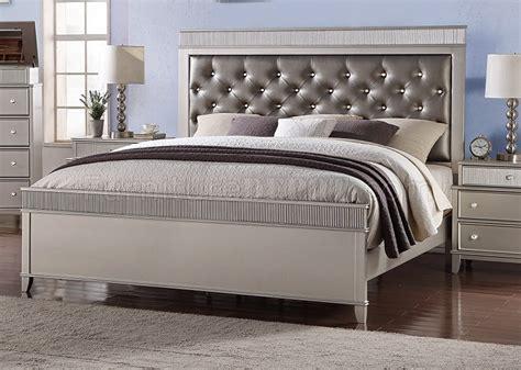 geneva bedroom pc set   dark silver leatherette woptions