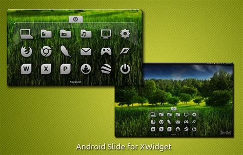 android slider style launcher widget for windows pc