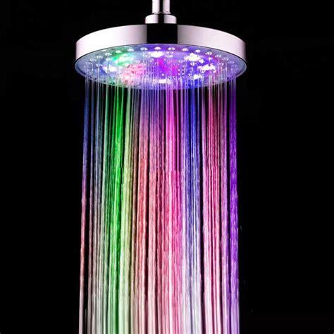 cambio doccia soffione led doccia cambio di colore automatico plastica abs