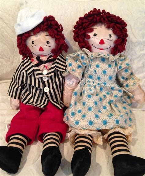 Handmade Raggedy And Andy Dolls - handmade vintage raggedy and andy doll 40 50 s 19 inches