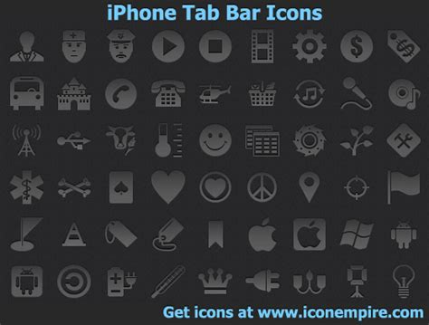 Iphone Icons On Top Bar by Iphone Tab Bar Icons By Iconoman On Deviantart