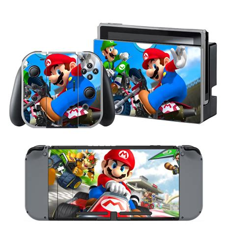 mario kart 8 console mario kart 8 design decal for nintendo switch console