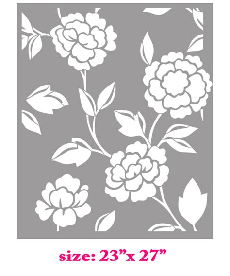 printable wall stencils flower moroccan flower damask stencil concrete thinking