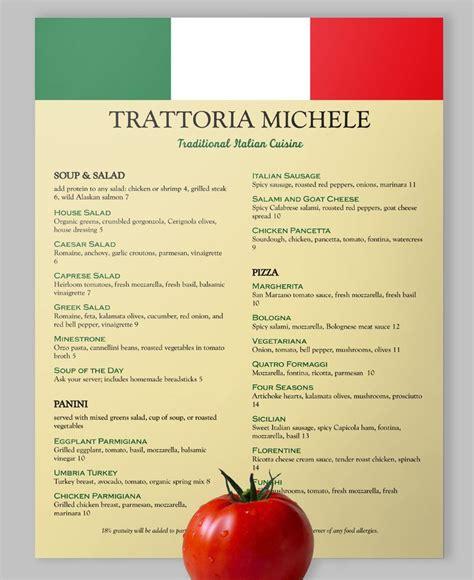 italian dinner menu template viva italia loveyourmenu italianfood italy vivaitalia