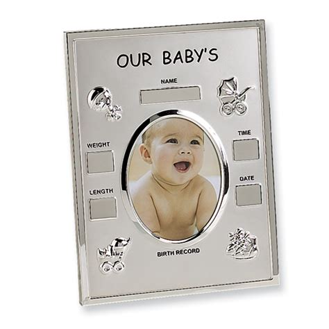 Birth Record Frame Baby Birth Record Photo Frame Jewelers