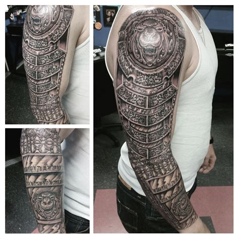 ink addiction tattoo armor armor sleeve boneface ink ink