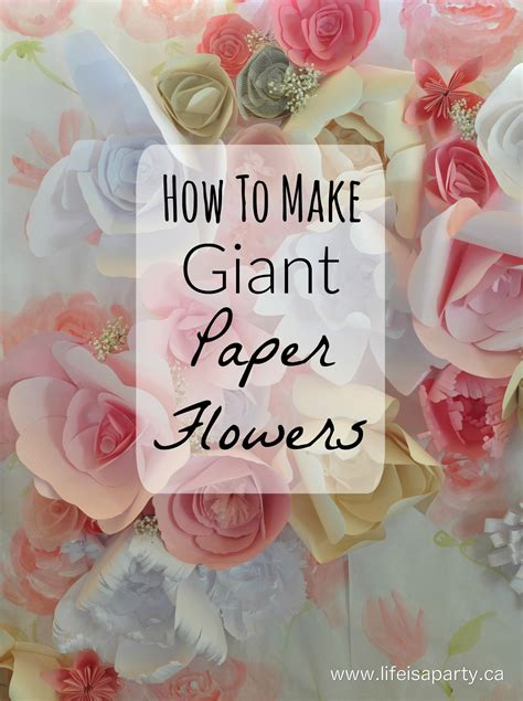 How To Make A Big Paper - how to make paper flowers is a