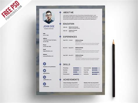 Free Graphic Resume Templates by Best Free Resume Templates For Designers