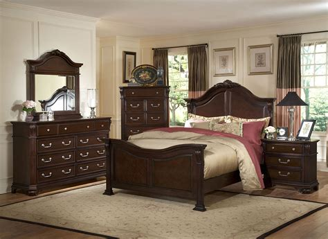 laras de buro vintage emilie tudor brown king panel bed from new classics 1841