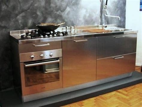 cucina 210 cm c22 blocco inox l 210 cm cucine in acciaio inox cucine
