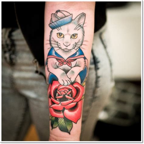 cartoon kitten tattoo cartoon cat tattoos design tattoo ideas pictures